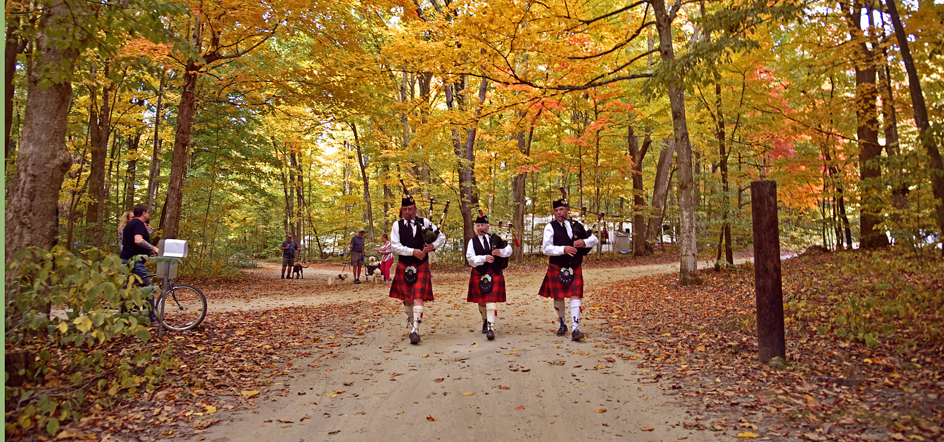 Bagpipers in Autumn